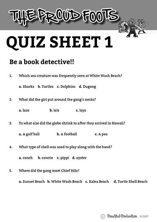 Quiz Sheet